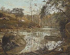J.A. Turner (1850-1908), Bend on the Yarra 1875