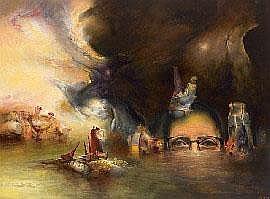 James Gleeson (1915-2008), The Artist Desending
