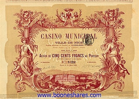 COLLECTION: FRENCH CASINOS: 69 pieces ***