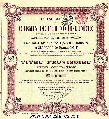C.D.F. NORD-DONETZ, CIE. DU (151 pieces)