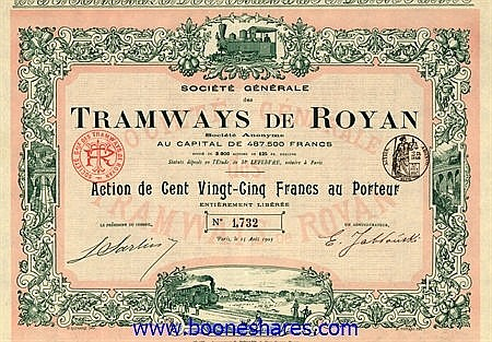 COLLECTION: FRENCH TRAMS: 147 pieces ****