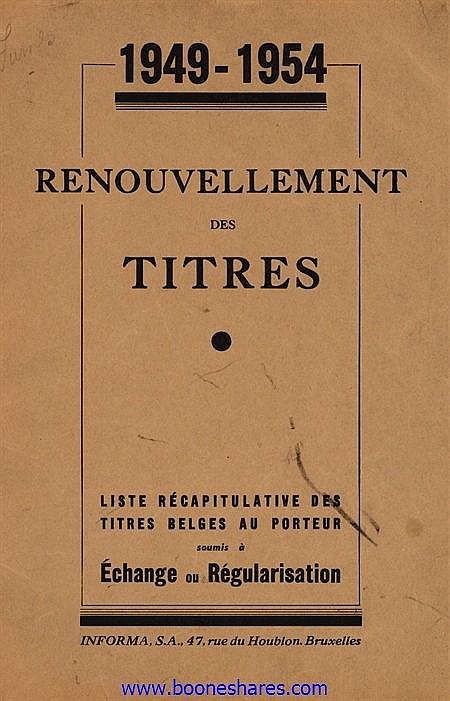 PUBLICATIONS: RENOUVELLEMENT DES TITRES - OPERATION GUTT