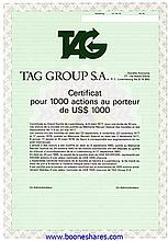 TAG GROUP S.A. - 4 types