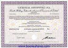 GENERAL SHOPPING SA - 3 types