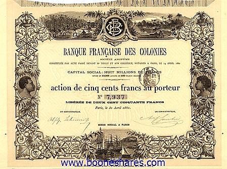 BANQUE FRANCAISE DES COLONIES S.A.