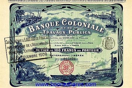 BANQUE COLONIALE ET DE TRAVAUX PUBLICS S.A.