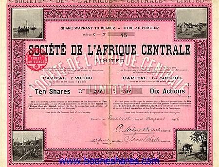 AFRIQUE CENTRALE, SOC. DE L'