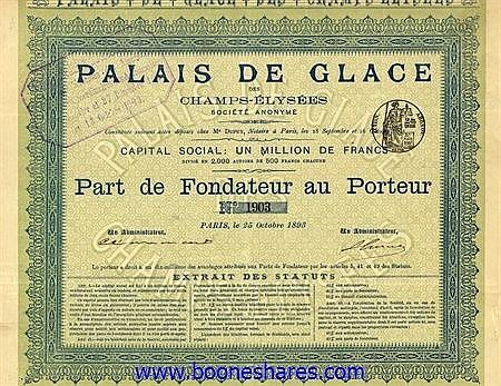 PALAIS DE GLACE DES CHAMPS-ELYSEES