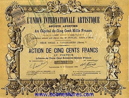 L'UNION INTERNATIONALE ARTISTIQUE