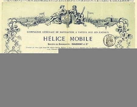 HELICE MOBILE, CIE. GEN. DE NAVIGATION A VAPEUR SUR LES CANAUX