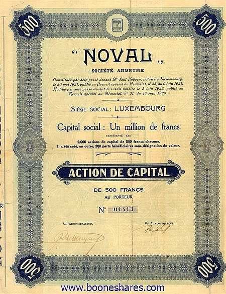 NOVAL S.A.