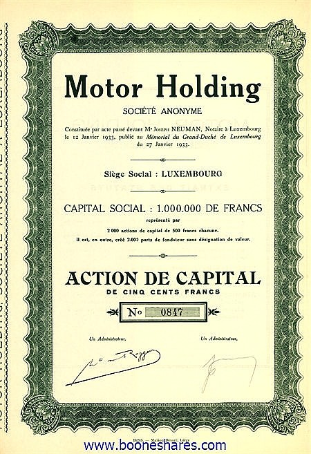 MOTOR HOLDING S.A.