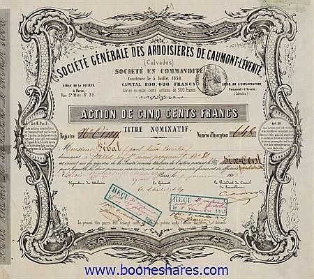 ARDOISIERES DE CAUMONT-L'EVENTE
