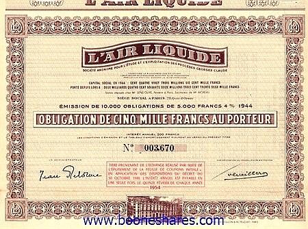 AIR LIQUIDE S.A. POUR L'ETUDE ET L'EXPLOIT. DES PROCEDES GEORGES CLAUDE