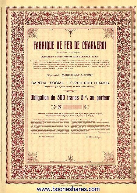 FABRIQUE DE FER DE CHARLEROI S.A.