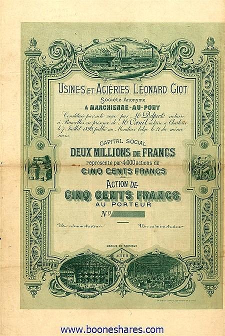 USINES ET ACIERIES LEONARD GIOT S.A.