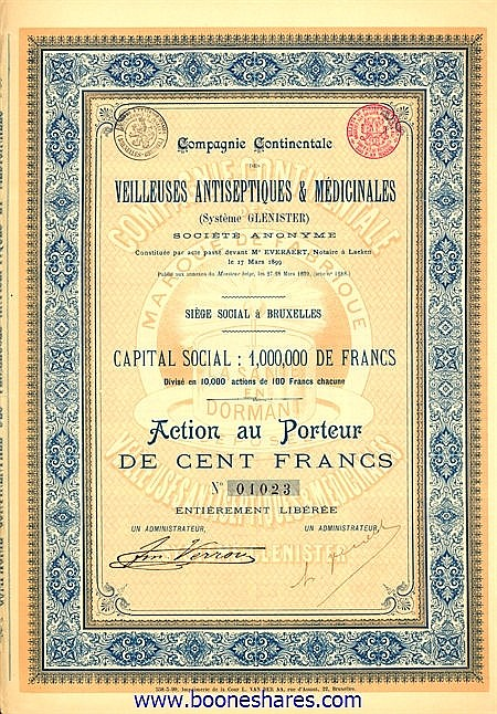 VEILLEUSES ANTISEPTIQUES & MEDICINALES (SYSTEME GLENISTER) S.A.