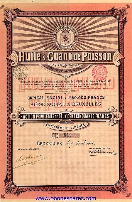 HUILE & GUANO DE POISSON S.A.