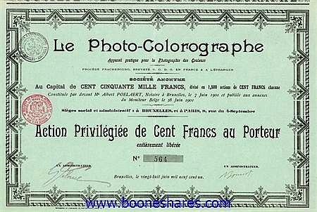 LE PHOTO-COLOROGRAPHE S.A.