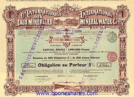 EAUX MINERALES S.A., CIE. INTERNATIONALE DES