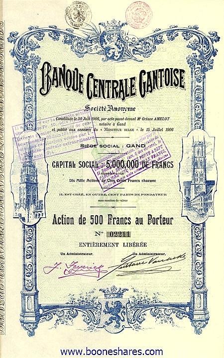 BANQUE CENTRALE GANTOISE S.A.