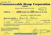 COMMONWEALTH HEMP CORP. LTD