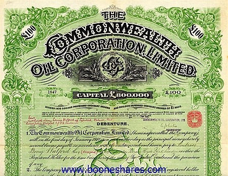 COMMONWEALTH OIL CORP. LTD.