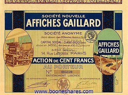 AFFICHES GAILLARD (2 types)