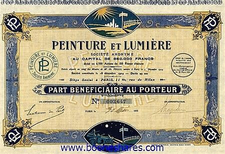 PEINTURE ET LUMIERE S.A.