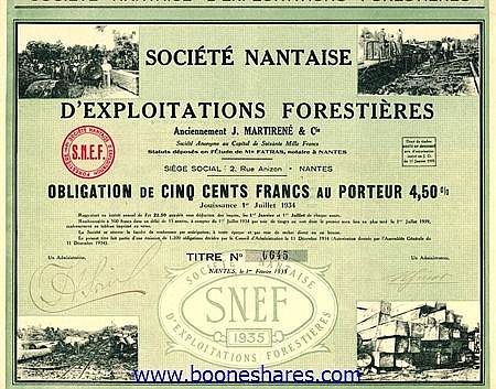 EXPLOITATIONS FORESTIERES ANC. J. MARTIRENE & CIE., SOC. NANTAISE
