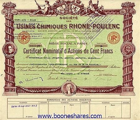 USINES CHIMIQUES RHONE-POULENC