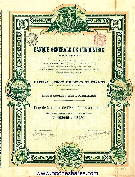 BANQUE GENERALE DE L'INDUSTRIE S.A.