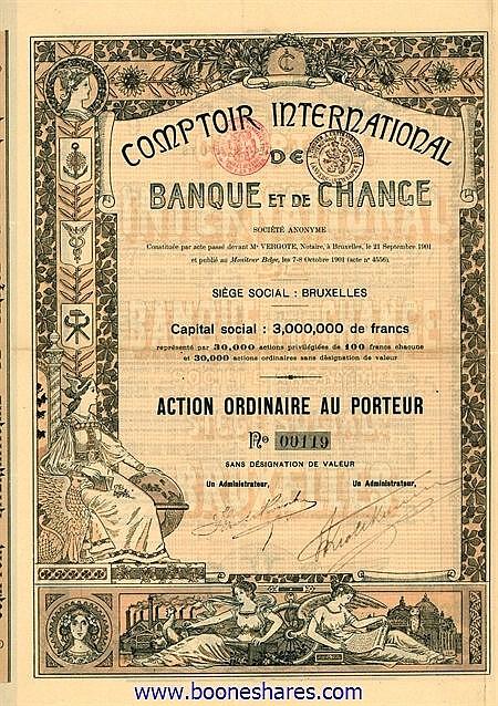 COMPTOIR INTERNATIONAL DE BANQUE ET DE CHANGE S.A.