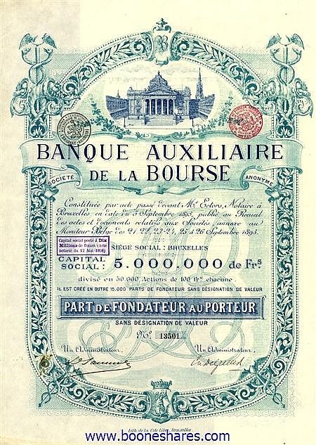 BANQUE AUXILIAIRE DE LA BOURSE S.A.