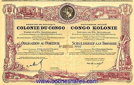 COLONIE DU CONGO, CONGO BELGE