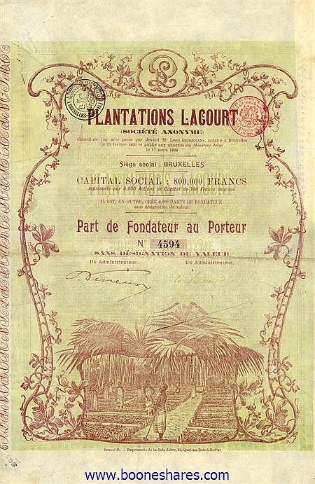 PLANTATIONS LACOURT S.A.