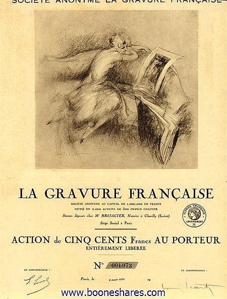 LA GRAVURE FRANCAISE S.A.