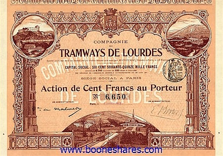 TRAMWAYS DE LOURDES S.A., CIE. DES