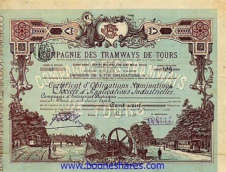 TRAMWAYS DE TOURS, CIE. DES