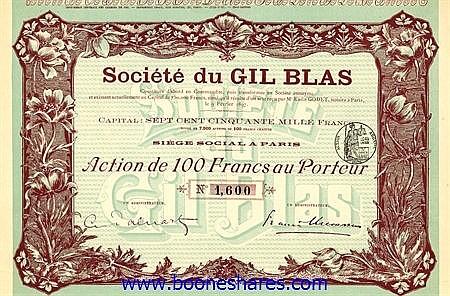 GIL BLAS, SOC. DU