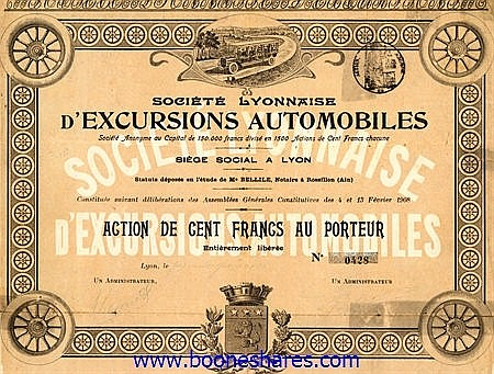 EXCURSIONS AUTOMOBILES, SOC. LYONNAISE D'