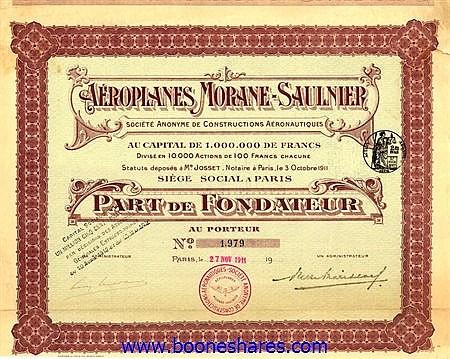 AEROPLANES MORANE-SAULNIER, S.A.