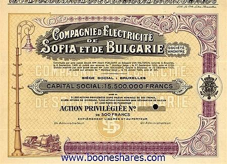 ELECTRICITE DE SOFIA ET DE BULGARIE SA