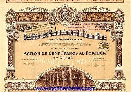 CAOUTCHOUCS DE L'INDO-CHINE S.A.