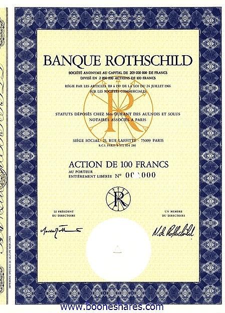 BANQUE ROTHSCHILD S.A.