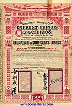 GOUV. IMPERIAL DE CHINE - C.D.F. ENTRE KAIFONG-FOU ET HONAN-FOU