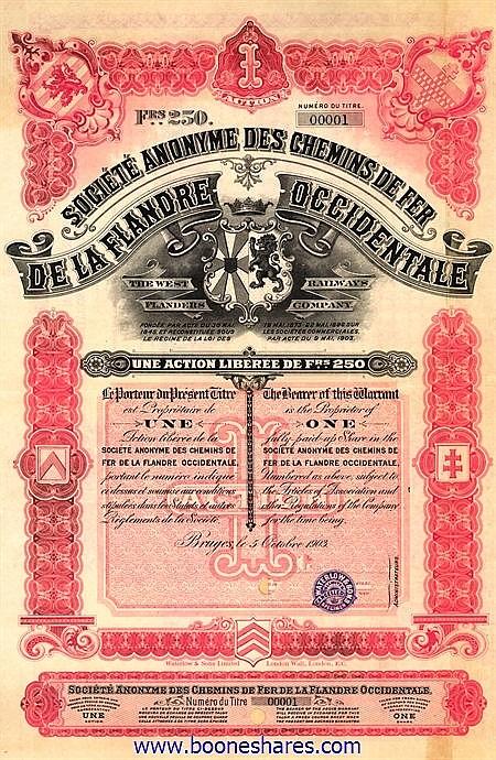 C.D.F. DE LA FLANDRE OCCIDENTALE, S.A.