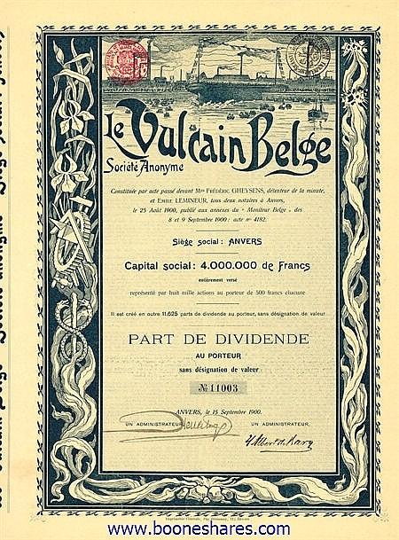 VULCAIN BELGE S.A., LE