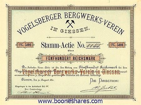 VOGELSBERGER BERGWERKS-VEREIN IN GIESSEN