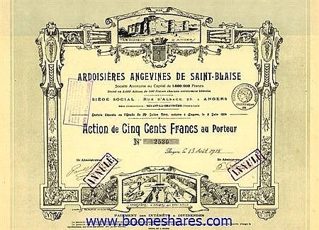 ARDOISIERES ANGEVINES DE SAINT-BLAISE S.A.